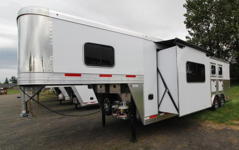 2021 Exiss ENDEAVOR 8310 3 HORSE TRAILER- SLIDE OUT - EASY CARE FLOOR