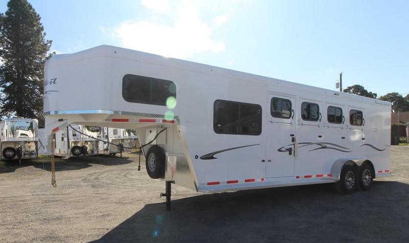 2021 Trails West Classic Side Tack Comfort Package 7 6 Tall Horse Trailer