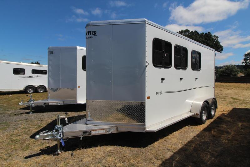 2021 Frontier Strider Lite 3 Horse Aluminum Trailer - Swing out Saddle Rack