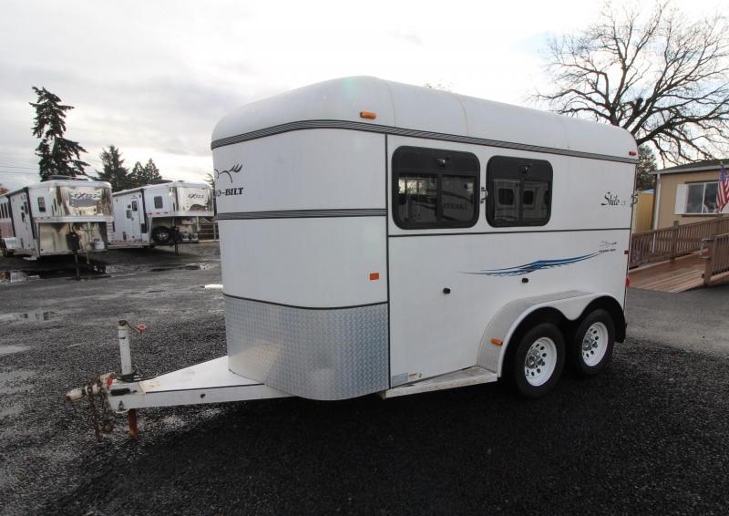 2005 Thuro-Bilt SHILO 2 HORSE TRAILER - DROP DOWN WINDOWS- SWINGING TACK WALL
