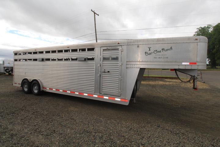 2021 Featherlite 8127 24' Stock Trailer-Two Cut Gates-Sliders Livestock Trailer