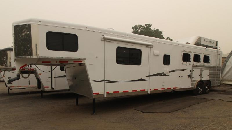 2018 Trails West Sierra 15x19 Living Quarters with Slide Out 3 horse trailer Horse Trailer