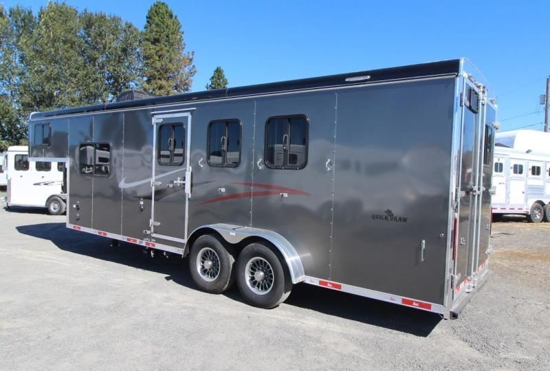 "2021 Bison Quick Draw 3 Horse LQ Trailer - 7' Wide 7'6"" Tall. 8'SW"