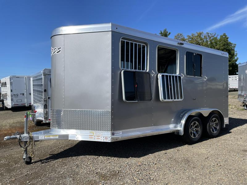 2022 Exiss Express SS 3 Horse Bumper Pull - Easy Care Flooring - Double Rear Doors - Drop Down Windows & Bars