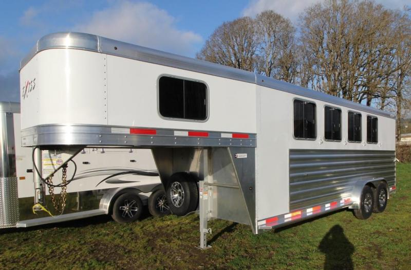 2021 Exiss EXPRESS CXF 4 HORSE TRAILER GN- EASY CARE FLOORING