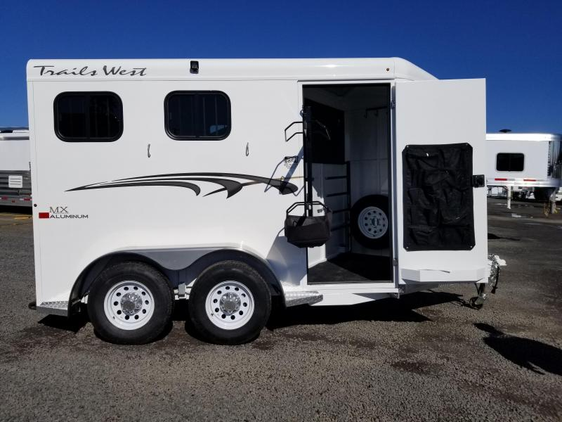 2020 Trails West Adventure MX II 2 Horse Trailer - Aluminum Skin - PRICE REDUCED $300