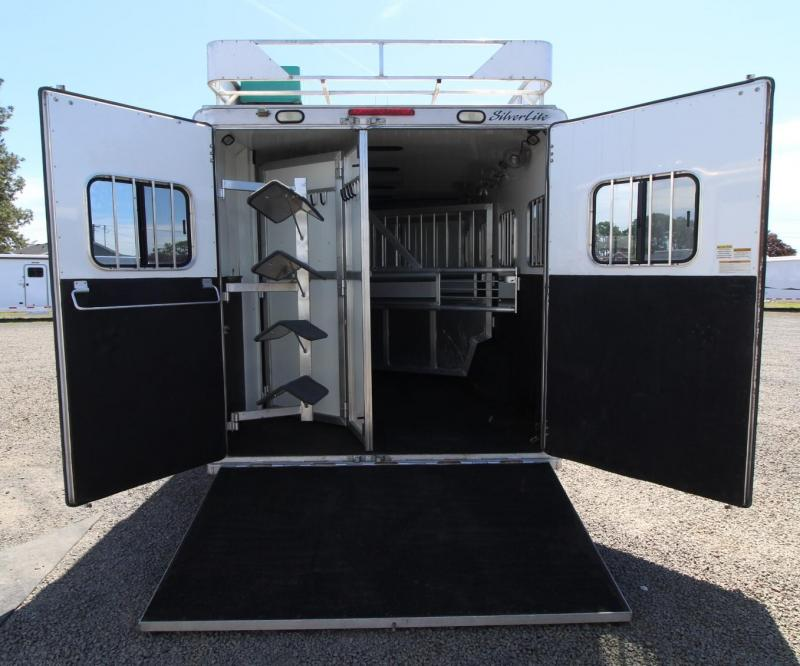 2007 Silver Lite 12FT SW 4 HORSE TRAILER -LIVING QUARTERS- 4FT MIDTACK - SLIDE OUT - REAR RAMP