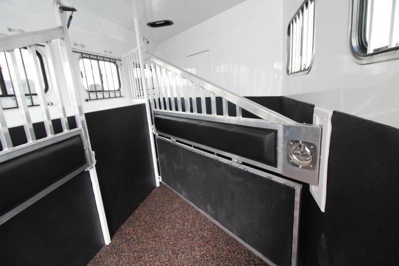 2019 Trails West Sierra 10' x 15' Living Quarters w/ Slide - 4 Horse Trailer PRICE REDUCED $1600- Drop Down Feed Doors - Hoof Grip Flooring