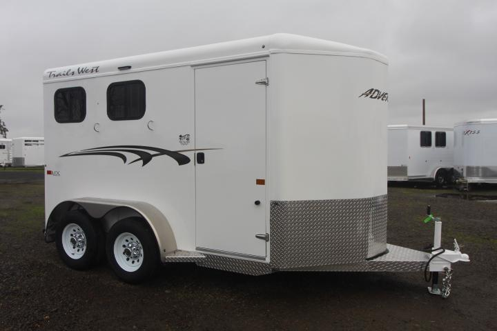 2021 Trails West Adventure MX 2 Horse- 25 Gallon Water Tank - Swing Out Saddle Racks - LED Load Lights