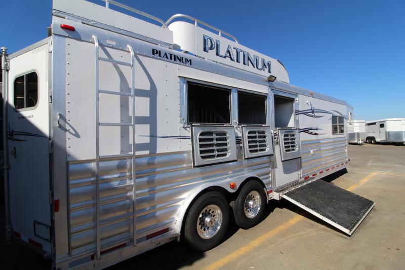2012 Platinum Coach 3H Reverse Load 12' Outlaw LQ-Gen-Hay Rack Horse Trailer