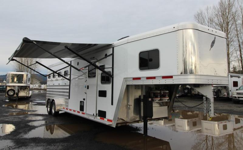 2020 Featherlite 7841 Legend 8ft SW Living Quarters 4 Horse Trailer w Tail Side Drop Down Windows PRICE REDUCED 500