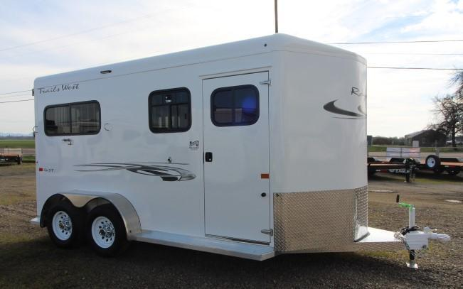 2021 Trails West Royale SxST Horse Trailer-Warmblood Size-Mangers-Dual Tack Doors-Rear Ramp