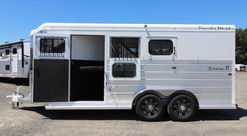2020 Trails West Sierra II Extra Large Tack Room Upgrade 3 Horse Trailer