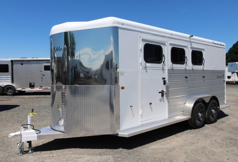 2020 Trails West Sierra II Extra Large Tack Room Upgrade 3 Horse Trailer