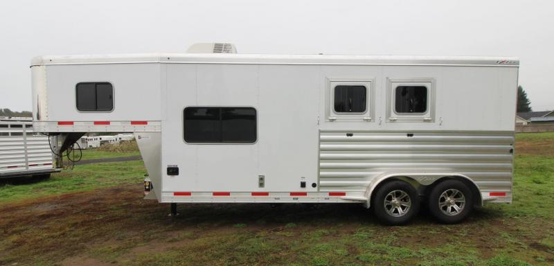 "2021 Exiss Trailers 7208 2 Horse Trailer - 8'6"" LQ - Electric Awning - Easy Care Flooring - Stud Divider"