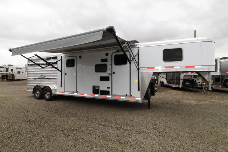 2020 Exiss 311 CXF Living Quarters Horse Trailer-Side Tack-Easy Care Flooring-Sofa