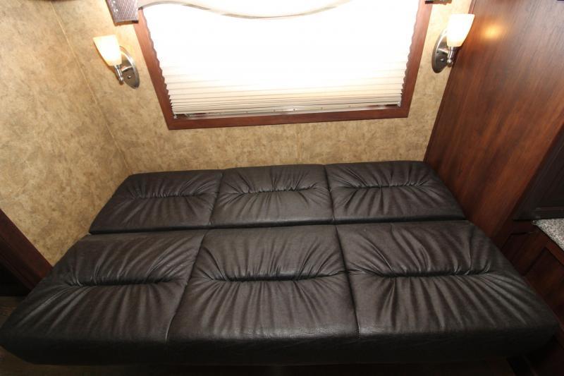 2020 Exiss 311 CXF Living Quarters Horse Trailer-Side Tack-Easy Care Flooring-Sofa