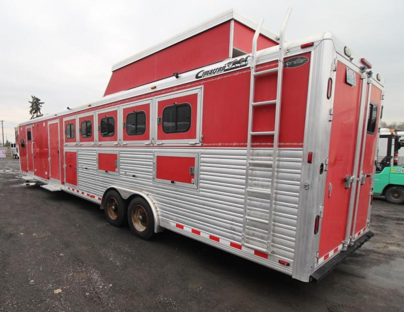 2007 Cimarron 5 HORSE TRAILER - LIVING QUARTERS - MIDTACK