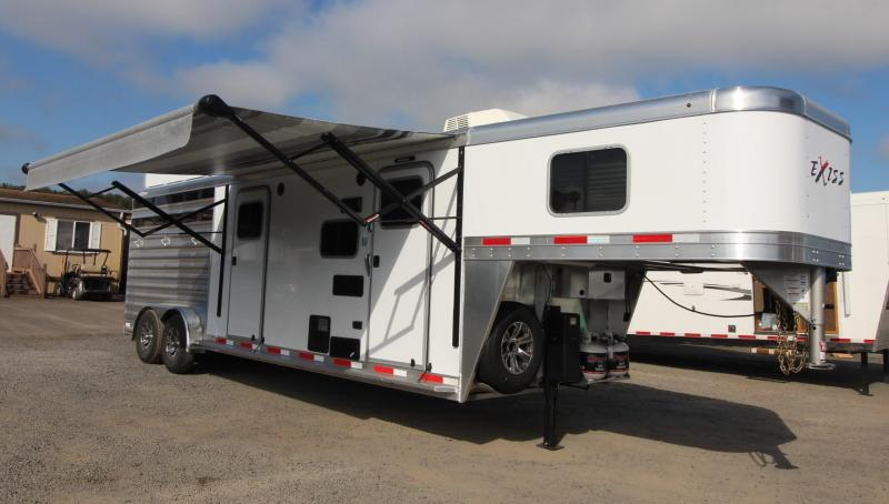 2021 EXISS EXPRESS 7311 CXF 3 HORSE LQ TRAILER - SIDE TACK - HAY RACK- ELECTRIC AWNING