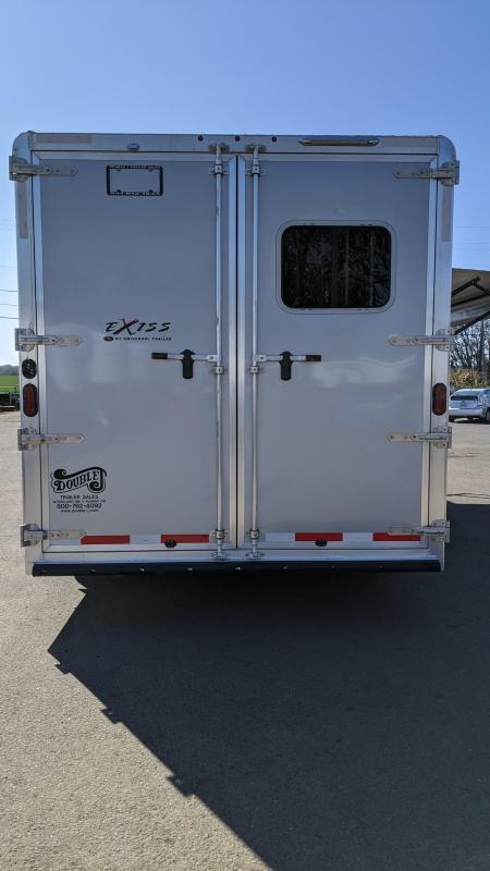 2020 Exiss 8310 3  Horse 10' SW Living Quarters Trailer - Slide Out - Upgraded Interior - Lined and Insulated Horse Area - Stud Wall - Easy Care Flooring - Mangers PRICE REDUCED $2095