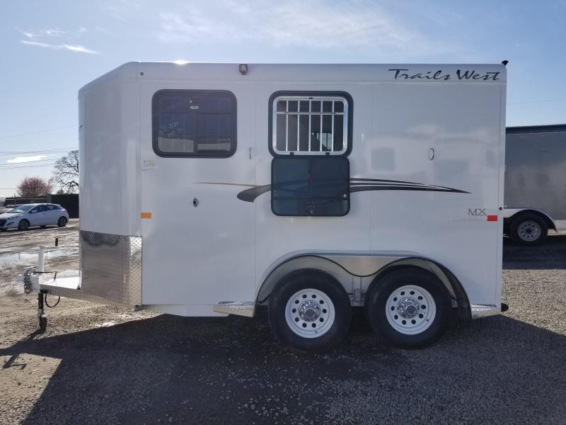 2020 Trails West Adventure MX II 2 Horse Trailer - Aluminum Skin Steel Frame