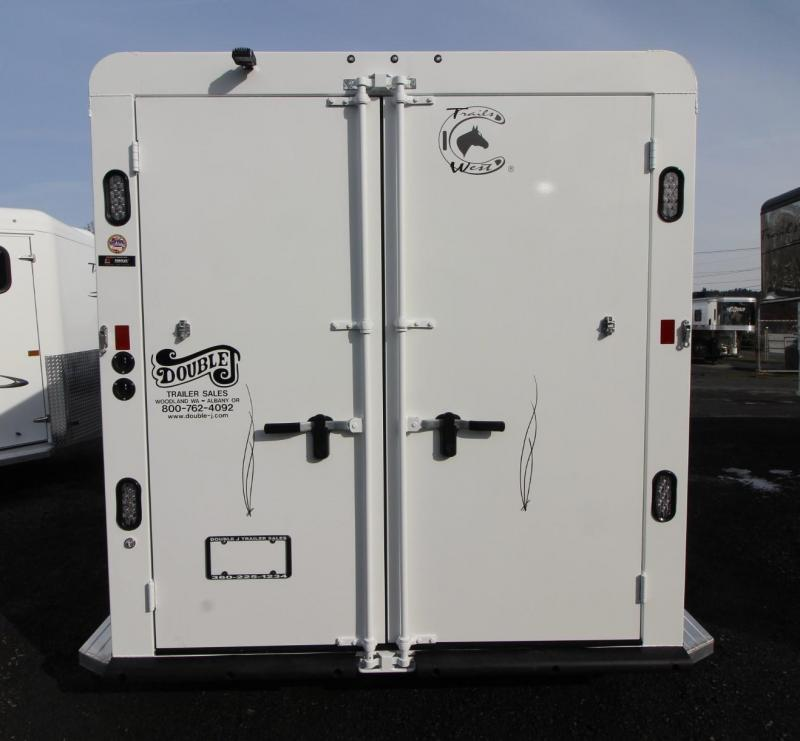 2019 Trails West Classic 2 Horse Trailer - Aluminum Skin Steel Frame - Convenience Package - Swing-out Saddle Rack - Drop Down Feed Doors