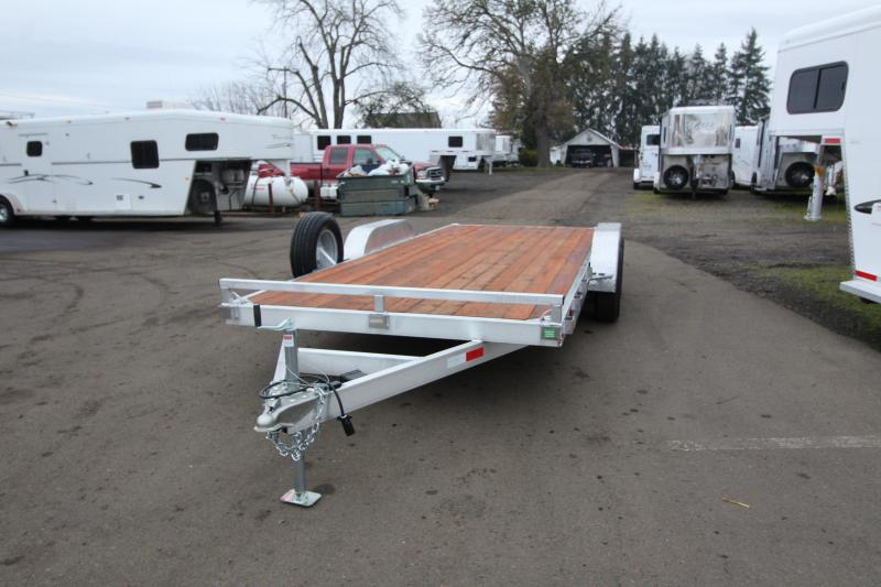 2020 Eagle 7' x 18' Tandem Axle Aluminum Flatbed Trailer - Removable Fenders - Pressure Treated Wood Decking - 10k Axles - Spare Tire Mount - Spare Tire
