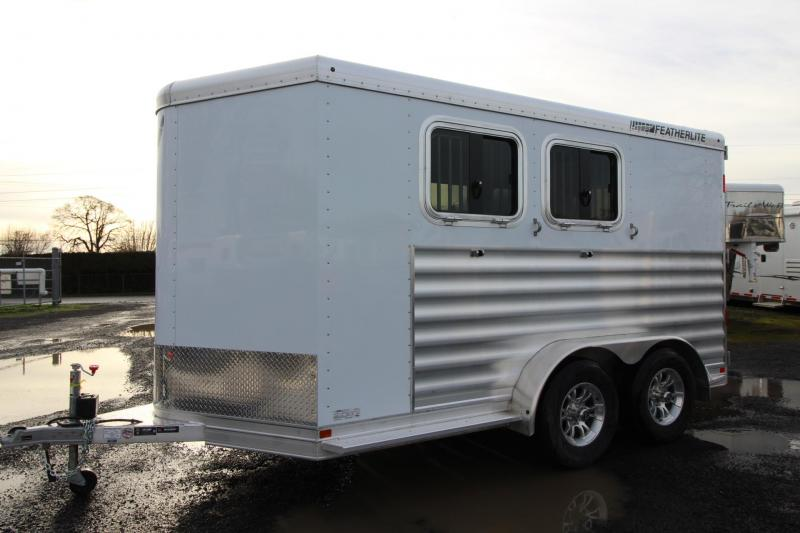 2020 Featherlite 7441 - 2 Horse Trailer - W/ Rear tack & Large Dressing Room - Easy Care Flooring - Dbl Rear Doors W/ Windows