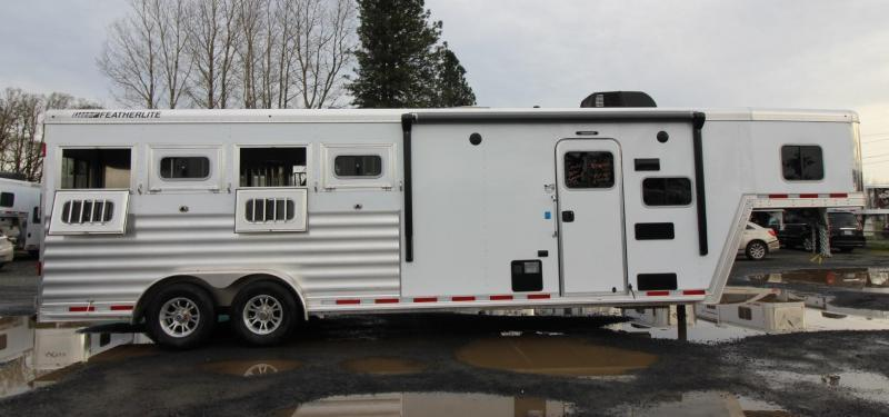2020 Featherlite 7841 Legend 8ft SW Living Quarters 4 Horse Trailer w Tail Side Drop Down Windows PRICE REDUCED $2500