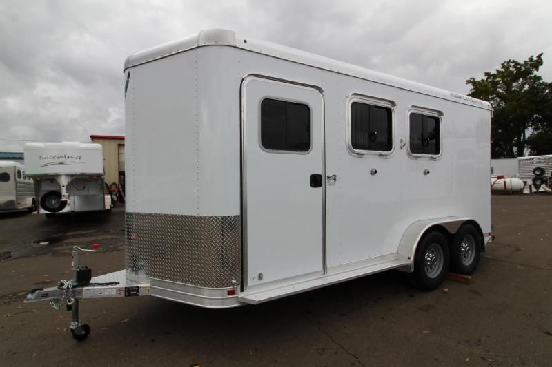 "2020 Featherlite 9551 - 2 Horse All Aluminum Trailer - 7'6"" Tall - Swing Out Saddle Rack - Drop Down Windows - Spare Tire - PRICE REDUCED $300"
