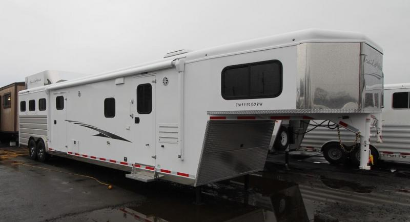 2021 Trails West 11' SW-8'w-3 HORSE TRAILER- MID TACK-Hay Rack-Gen. Prep-Slide