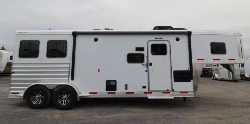 2019 Exiss Trailers 7210 - 10' SW Living Quarters w/ Slide Out - 2 Horse Trailer Easy Care Flooring - All Aluminum PRICE REDUCED $500