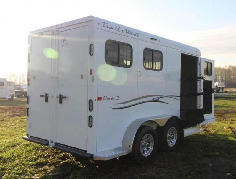 2021 Trails West CLASSIC II 2 HORSE TRAILER - SWING OUT SADDLE RACK - ALUMINUM SKIN STEEL FRAME