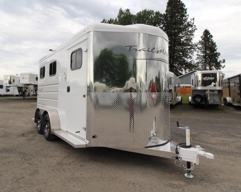 "2020 Trails West Sierra II Warmblood 7'6"" Tall 2 Horse Trailer Aluminum Skin Steel Frame"
