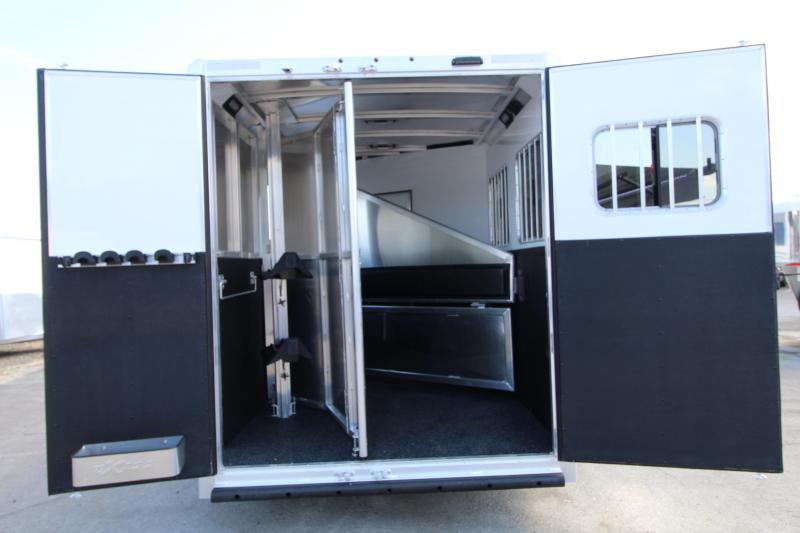 2020 Exiss 7206-2 Horse Trailer 6' SW-Couch-Easy Care Flooring-All Aluminum