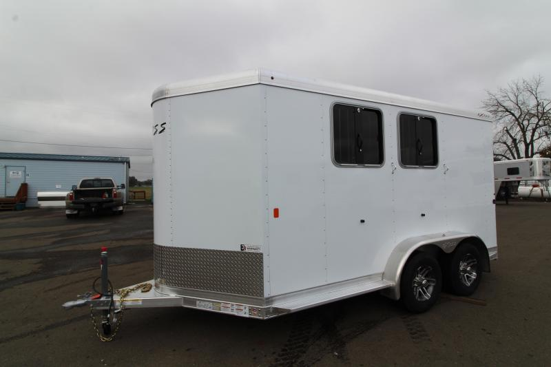 2020 Exiss 720 Horse Trailer - Lined and Insulated Horse Area - Drop Down Feed Windows - Pop-up Roof Vents PRICE REDUCED