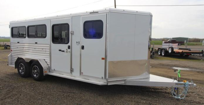 2021 Frontier Stock Low Profile 7x16 Trailer-Removable Pens-Ramp