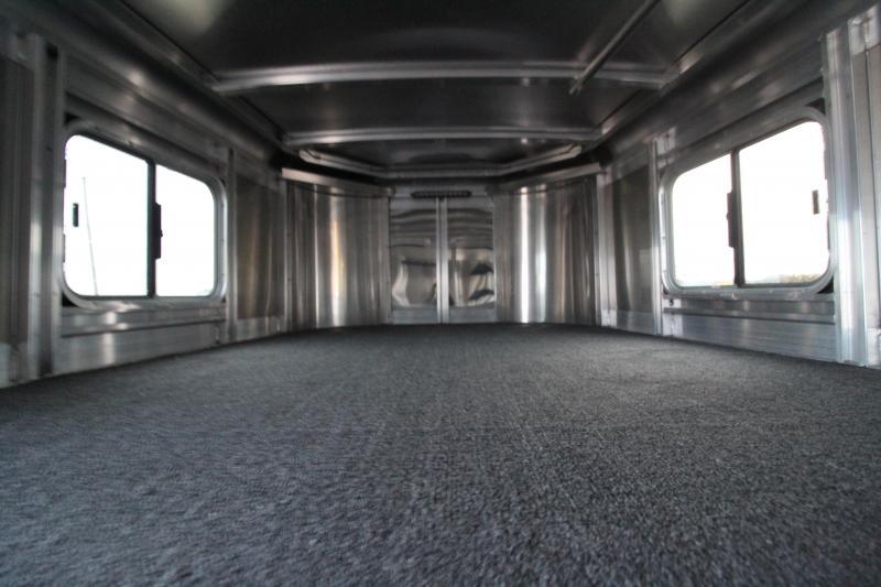 2020 Exiss 7400 Horse Trailer - Easy Care Flooring - Stud Divider - All Aluminum Construction