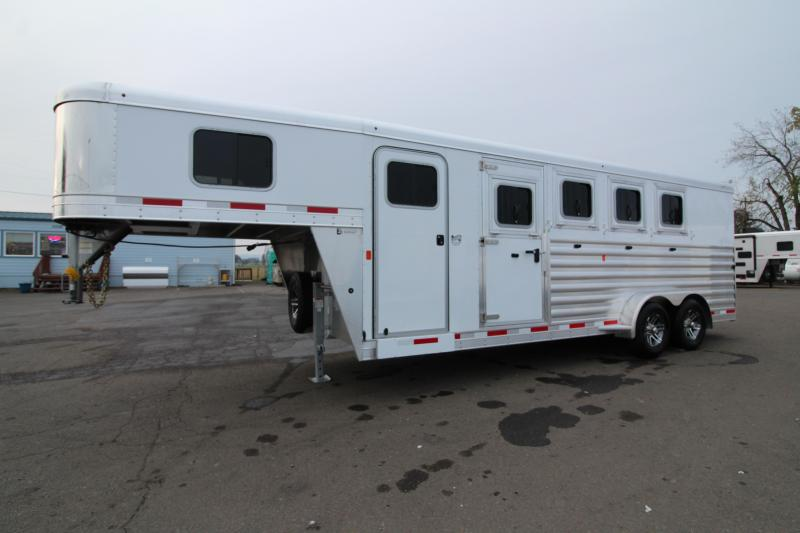 2020 Exiss 7400 Horse Trailer - Easy Care Flooring - Stud Divider - All Aluminum Construction