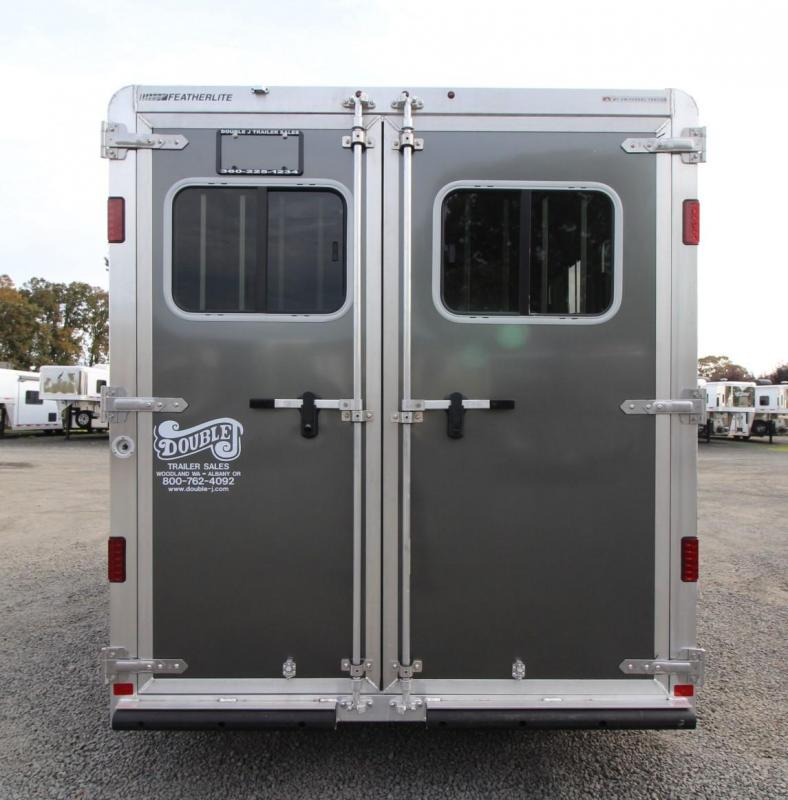 2020 Featherlite 7441 - w/ Rear Tack - 2 Tie saddle rack - Double rear doors - Large Dressing Room - 2 Horse Trailer
