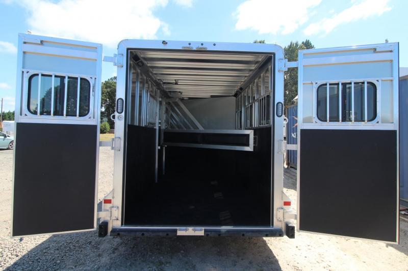 """2021 Frontier Strider 3 Horse Trailer - 7'5"""" Tall - Extruded Side Panels - Swing out Saddle Rack"""