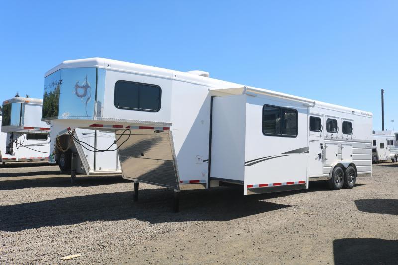 2022 Trails West Sierra 3H 13x13 Slide Out Side Tack Horse Trailer