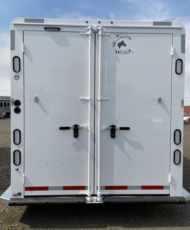 2022 Trails West Classic ll 4 Horse  Bumper Pull - Aluminum Air Flow Divider - Water Tank - Swing Out Saddle Rack - LED Load Lights - Escape Door