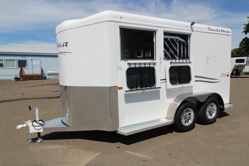2020 Trails West Classic 2 Horse Trailer - Swing Out Saddle Rack - Convenience Package - Rubber Floor Mats in Tack Area - PRICE REDUCED!