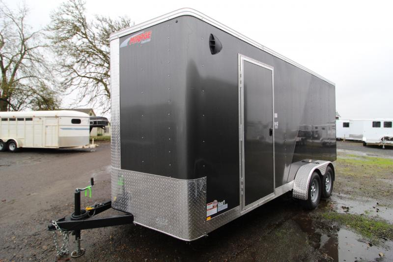 2021 Mirage Xpres 7x16 Enclosed Cargo Trailer- Side by Side package - Two tone exterior