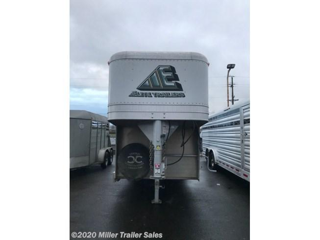 Used 2015 Elite 4 Horse Stock Combo Trailer -Tack Room-Slant Dividers