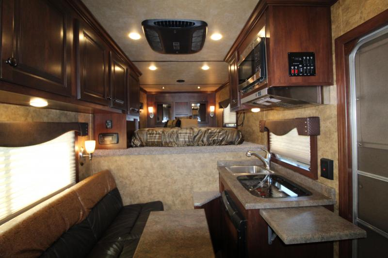 2020 Exiss 7208 Living Quarters Horse Trailer-Easy Care Flooring