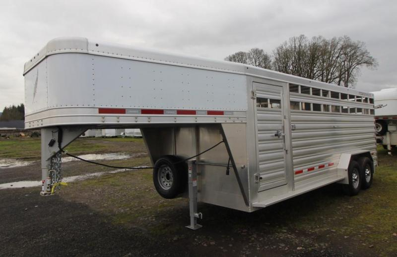 "2021 Featherlite 8127 20' - 7'W - 6'6""T - CENTER GATE w/ SLIDER Livestock Trailer"