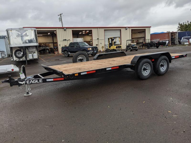 2021 Eagle 7x18 TA Flatbed 10K Utility Trailer