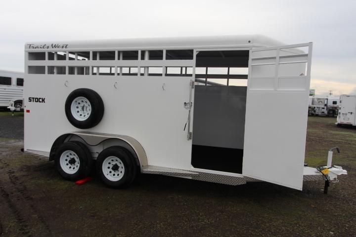 2021 Trails West Adventure 17' Stock-Slider in Rear-Escape Door Livestock Trailer